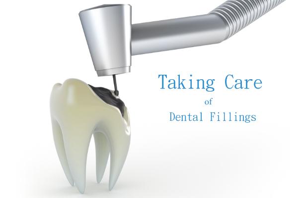 white dental filling